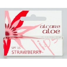 Alcare Aloe Lips Strawberry with SPF15