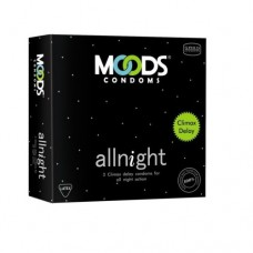 MOODS Allnight Condoms with Climax Delay (Pack of 3)