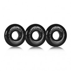 Oxballs Ringer 3 Pack Black Cock Rings