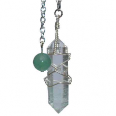 POD Clear Quarts Crystal Double Terminated Pendulum