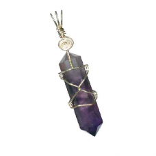 POD Amethyst Double Terminated Crystal Pendant