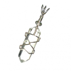 POD Clear Quarts Double Terminated Crystal Pendant