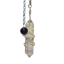 POD Fluorite Double Terminated Crystal Pendant