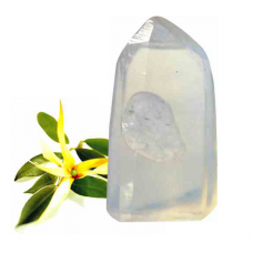 POD Quartz Crystal Gemstone with Ylang Ylang Essential Oil Glycerine Soap