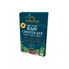 Superfoods Organic Raw Chocolate Bar Dark and Decadent 50g