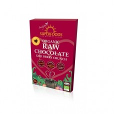 Superfoods Organic Raw Chocolate Bar Goji Berry Crunch 50g